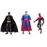 3 Action Figures With LED Light -batman Superman And Spiderman - 4421512