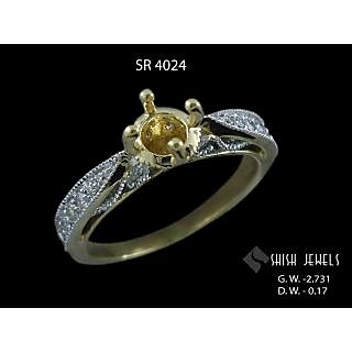 0.17 carat tw brilliant round ctr solitaire rings with accents gold