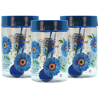 GPET Print Magic Container 450 ml  Blue (Pack of 3)