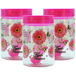 GPET Print Magic Container 450 ml  Pink (Pack of 3)
