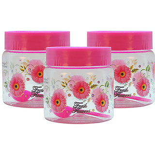 GPET Print Magic Container 500 ml  Pink (Pack of 3)