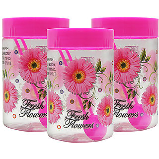 GPET Print Magic Container 700 ml  Pink (Pack of 3)