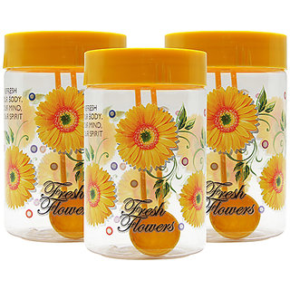 GPET Print Magic Container 450 ml  Yellow (Pack of 3)