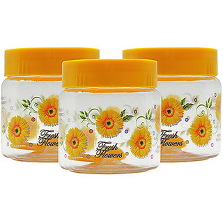GPET Print Magic Container 500 ml  Yellow (Pack of 3)