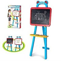 Kids Drawing And Magnetic Board Learning Easel With Magnetic Alpha Numeric Set - 4426004