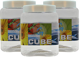 GPET Cube Pet Container 1500 ml (Pack of 3)