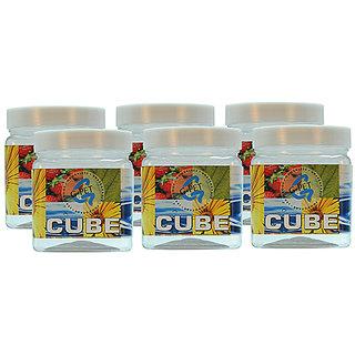 GPET Cube Pet Container 350 ml Set of 6