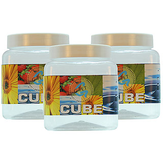 GPET Cube Pet Container 750 ml (Pack of 3)