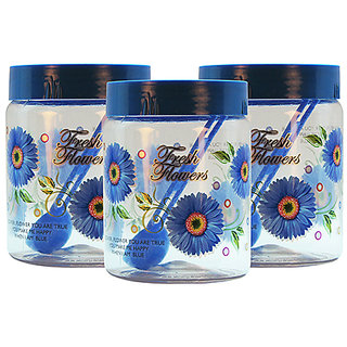 GPET Print Magic Container 1000 ml  Blue (Pack of 3)