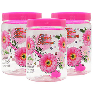 GPET Print Magic Container 2000 ml  Pink (Pack of 3)
