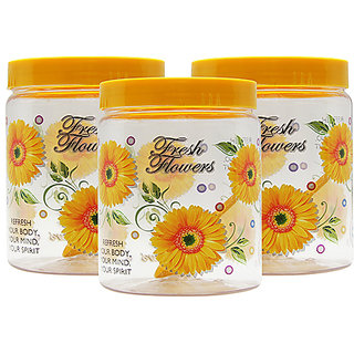 GPET Print Magic Container 1500 ml  Yellow (Pack of 3)