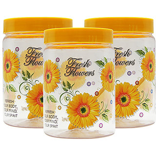 GPET Print Magic Container 2000 ml  Yellow (Pack of 3)