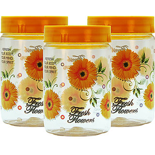 GPET Print Magic Container 700 ml  Yellow (Pack of 3)