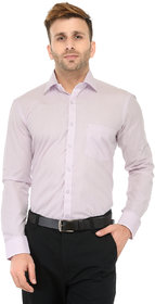 RG Designers Light Purple Solid Slim Fit Formal Shirt