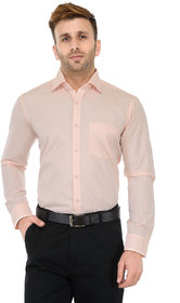 RG Designers Peach Solid Slim Fit Formal Shirt
