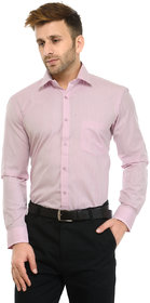RG Designers Dark Pink Solid Slim Fit Formal Shirt