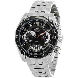 Casio Edifice Analog Black Dial Men's Watch - EF-550D-1AVDF