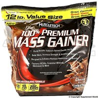 New MuscleTech 100% Premium Mass Gainer 12 Lbs  Strawberry Flavour