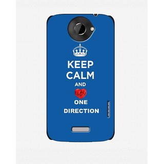 One Direction 1D Keep calm Back Cover Case for HTC One X Blue