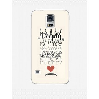 hot sale online 5e9fe 31237 One Direction 1D Truly Deeply Back Cover Case for Samsung Galaxy S5 ...