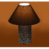Craftter Black Round Print Table Lamp
