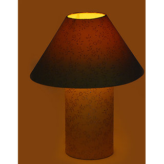 Craftter Yellow Print Table Lamp