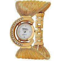 Prushti  Golden Glory Julo/Jaal analog Watch - For Girls and Women