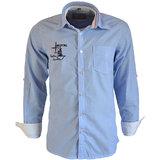 Integriti Solid Blue Cotton Shirt (HHP00495)