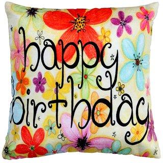 Valtellina Happy Birthday print cushion cover VLCU-017
