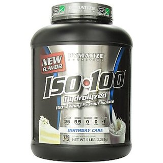 Dymatize Nutrition Iso 100 Whey Protein Isolate 5 Lbs Birthday Cake
