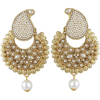 Jewels Capital Exclusive Golden White Earring Set / S 3656