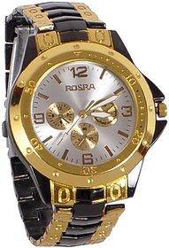 Rosra Analog GoldenBlack Stainless Steel Watch - Men