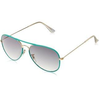 Joe Black JB-739-C1 LT Green Aviator Sunglasses