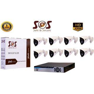 SOS-8 1080P 8CH AHD DVR - 1 PC  + SOS-EAGLE10 AHD 1.3 MP BULLET CAMERA - 8 PC