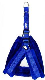 Petshop7 Nylon Blue  fur 1 Inch Medium Dog Harness (Chest Size  25-30inch)