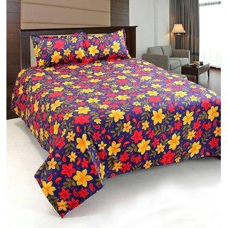 Home Castle 3D Printed Super Soft Double Bedsheet + 2 Pillow Covers(PC-DBL-3D07)