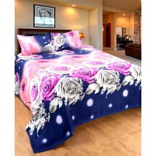 Home Castle Premium Luxury 3D Printed Double Bedsheet With 2 Pillow Covers