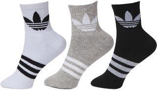 Adidas Originals Multi-Color Ankle Socks - 3 Pair Pack