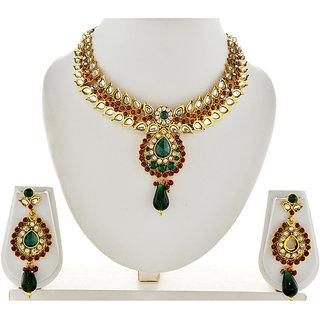 Asian Pearls & Jewels Multi Colour Kundan Necklace Set