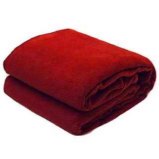 Sns Maroon Polar single Fleece Blanket