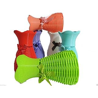 6thdimensions Imported Flower Vase Plastic Made Flower Pots Knitted Home Decor