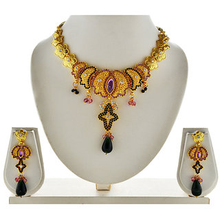 Asian Pearls & Jewels Multi Colour Necklace Set