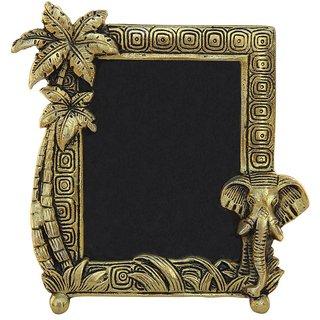 Buy Handicrafts Paradise Photo Frame Antique Golden With Elephant