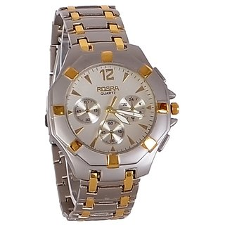 i DIVA'S   FASH ION Silver Steel SSAnalog Watch golden strip