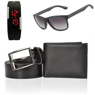 iLiv Combo - Black Wallet , Belt , Wayferer  Led Watch-1wayf1ledblkwalletbelt