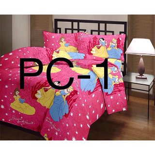 Cartoon Print Bed Sheets For Kids