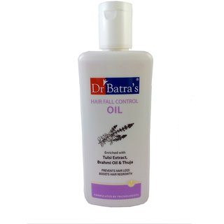 Dr Batra's Hair Fall Control Oil Enriched With Tulsi Extract, Brahmi Oil And Thuja-200ml