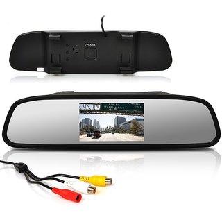 Premium Quality 4.3 TFT LCD Color Monitor Car Reverse Rear View Mirror For Backup Camera For Maruti Suzuki Sx4