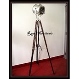 Mouse Over Image To Zoom Designers-Floor-Searchlight-With-Wood-Base-Tripod-Stan