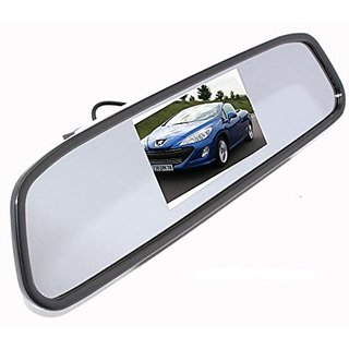 Premium Quality 4.3 TFT LCD Color Monitor Car Reverse Rear View Mirror For Backup Camera For Renault Duster